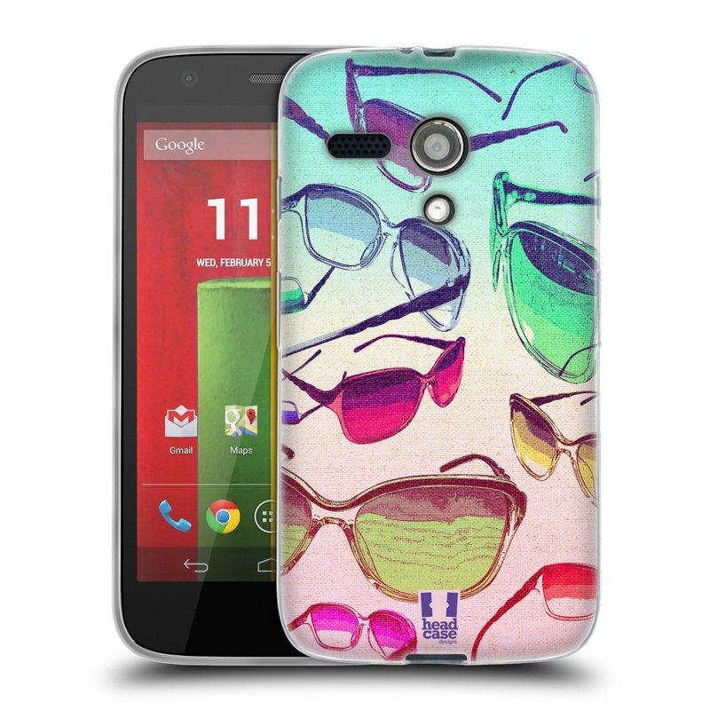 Silikonové pouzdro na mobil Motorola Moto G HEAD CASE SLUNEČNÍ BRÝLE (Silikonový kryt či obal na mobilní telefon Motorola Moto G)