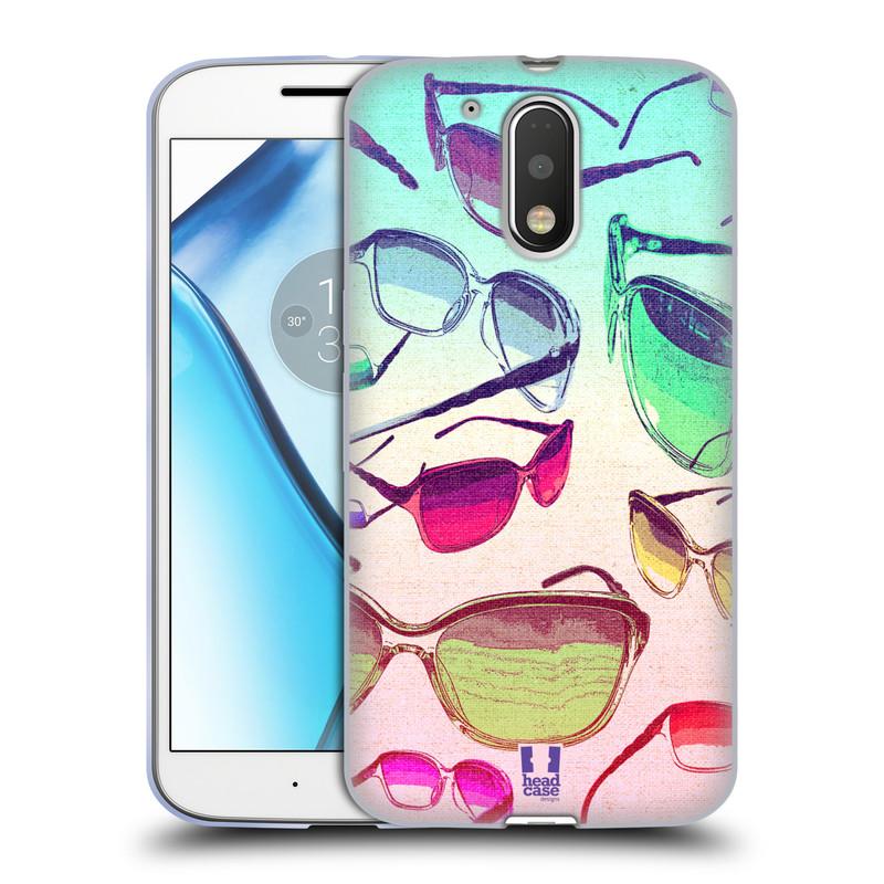 Silikonové pouzdro na mobil Lenovo Moto G4 HEAD CASE SLUNEČNÍ BRÝLE (Silikonový kryt či obal na mobilní telefon Lenovo Moto G4 (Single a Dual SIM))