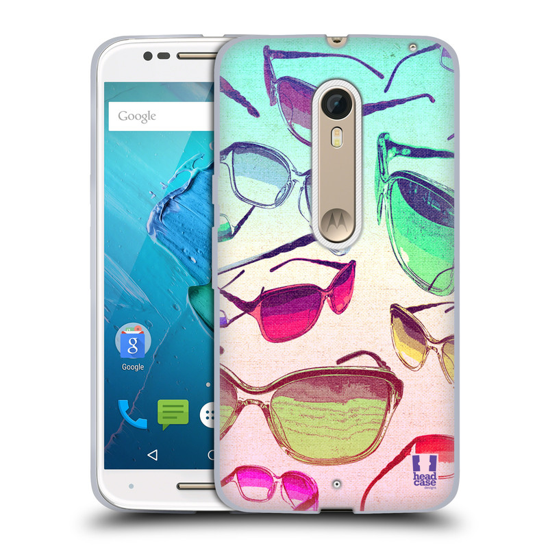 Silikonové pouzdro na mobil Motorola Moto X Style HEAD CASE SLUNEČNÍ BRÝLE (Silikonový kryt či obal na mobilní telefon Motorola Moto X Style)