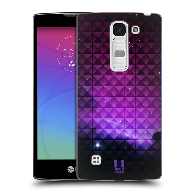 Plastové pouzdro na mobil LG Spirit LTE HEAD CASE PURPLE HAZE (Kryt či obal na mobilní telefon LG Spirit H420 a LG Spirit LTE H440N)