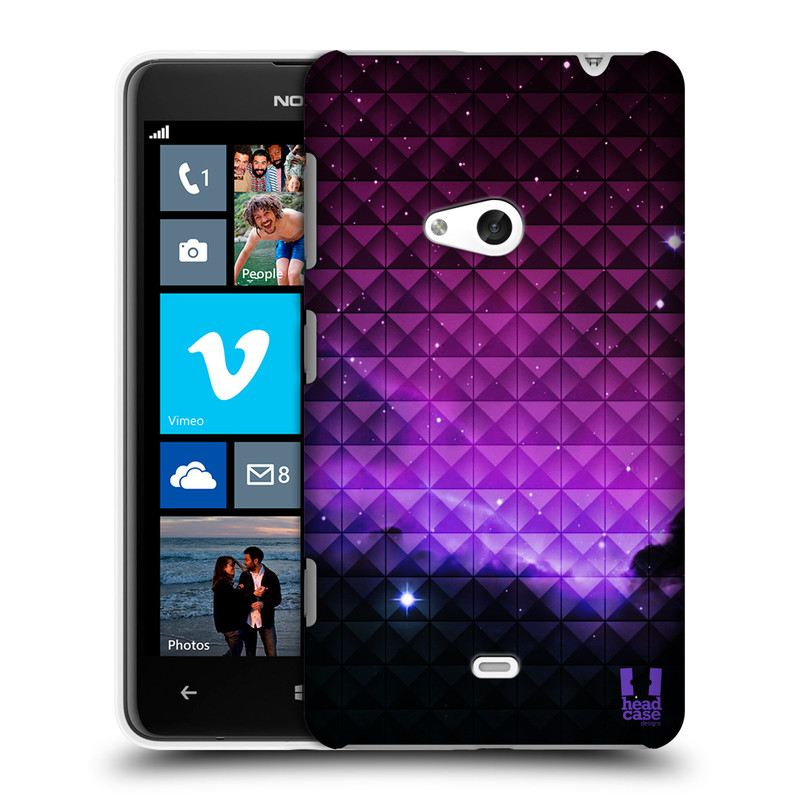 Plastové pouzdro na mobil Nokia Lumia 625 HEAD CASE PURPLE HAZE (Kryt či obal na mobilní telefon Nokia Lumia 625)