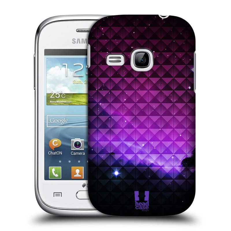 Plastové pouzdro na mobil Samsung Galaxy Young HEAD CASE PURPLE HAZE (Kryt či obal na mobilní telefon Samsung Galaxy Young GT-S6310)