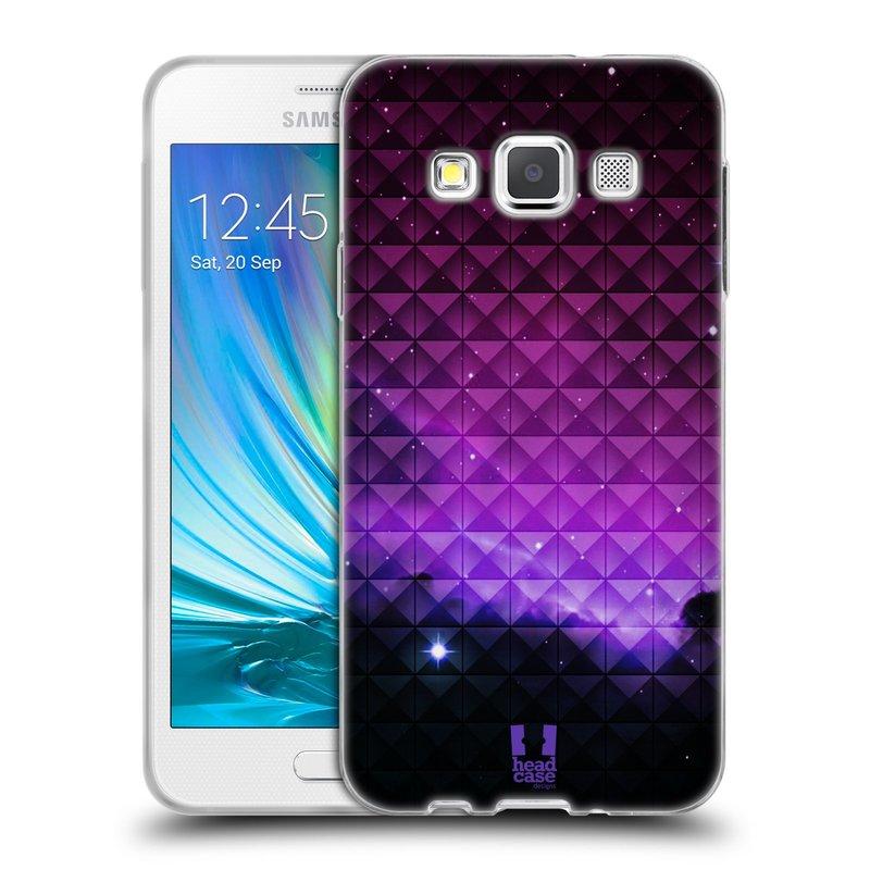 Silikonové pouzdro na mobil Samsung Galaxy A3 HEAD CASE PURPLE HAZE (Silikonový kryt či obal na mobilní telefon Samsung Galaxy A3 SM-A300)