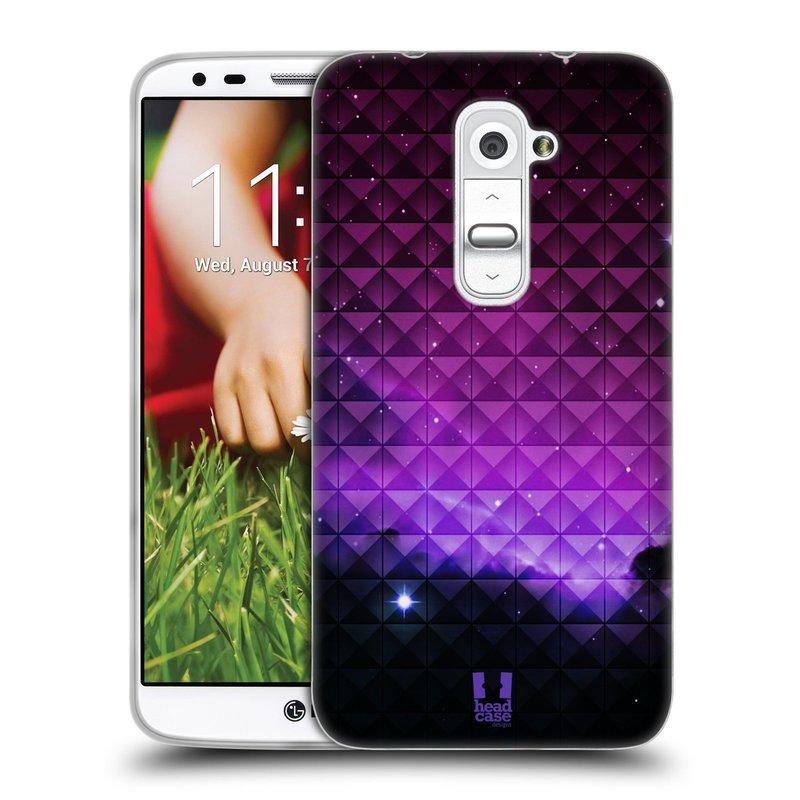 Silikonové pouzdro na mobil LG G2 HEAD CASE PURPLE HAZE (Silikonový kryt či obal na mobilní telefon LG G2 D802)