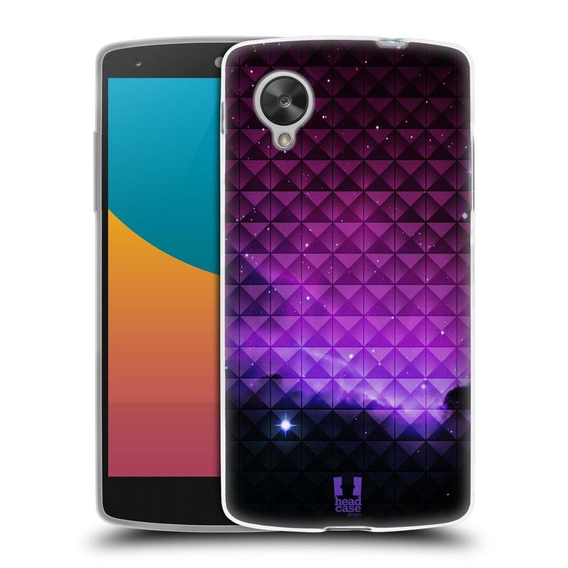 Silikonové pouzdro na mobil LG Nexus 5 HEAD CASE PURPLE HAZE (Silikonový kryt či obal na mobilní telefon LG Google Nexus 5 D821)