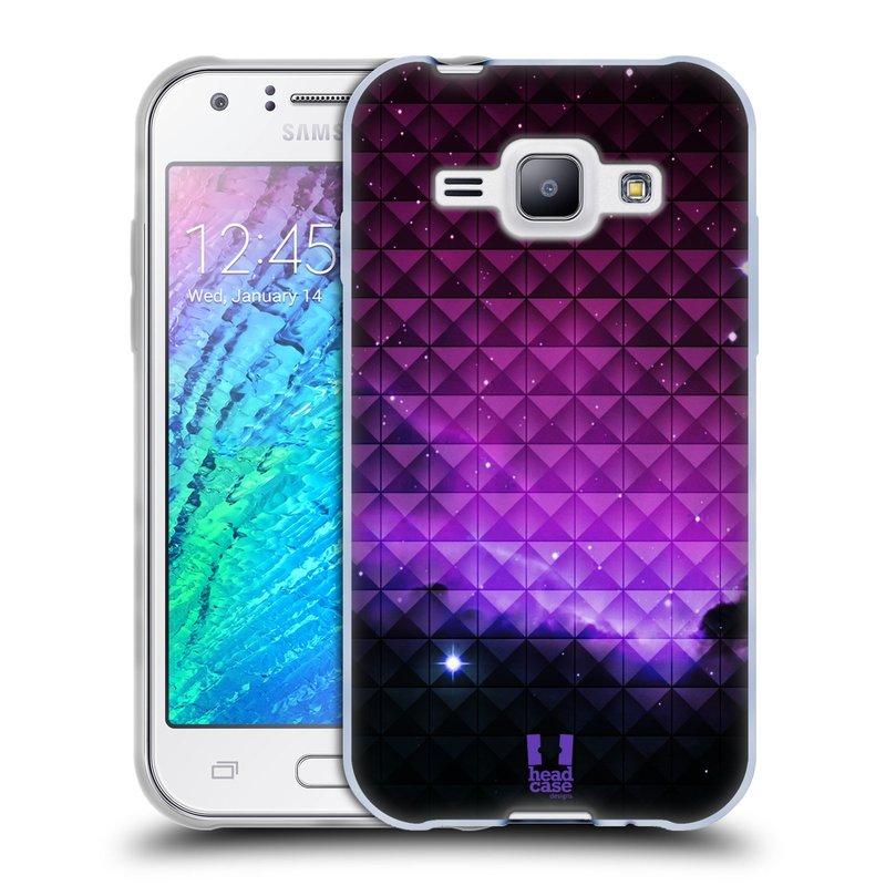 Silikonové pouzdro na mobil Samsung Galaxy J1 HEAD CASE PURPLE HAZE (Silikonový kryt či obal na mobilní telefon Samsung Galaxy J1 a J1 Duos)