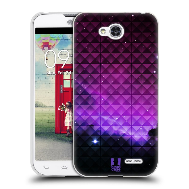 Silikonové pouzdro na mobil LG L90 HEAD CASE PURPLE HAZE (Silikonový kryt či obal na mobilní telefon LG L90 D405n)
