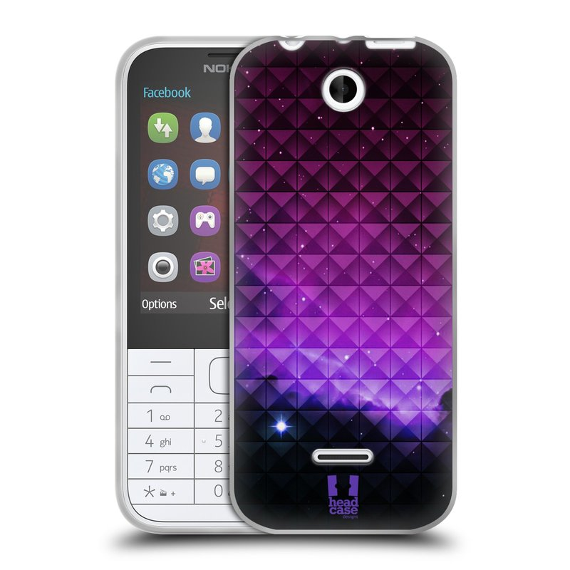 Silikonové pouzdro na mobil Nokia 225 HEAD CASE PURPLE HAZE (Silikonový kryt či obal na mobilní telefon Nokia 225)