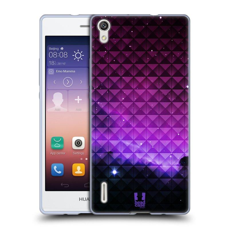 Silikonové pouzdro na mobil Huawei P7 HEAD CASE PURPLE HAZE (Silikonový kryt či obal na mobilní telefon Huawei Ascend P7)