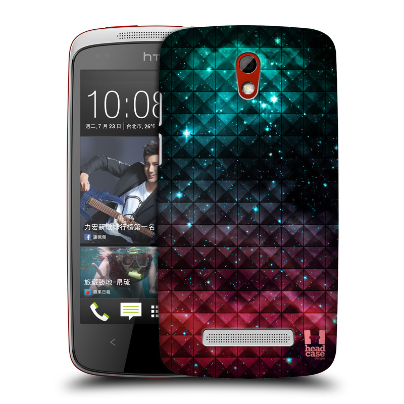 Plastové pouzdro na mobil HTC Desire 500 HEAD CASE OMBRE SPARKLE (Kryt či obal na mobilní telefon HTC Desire 500)