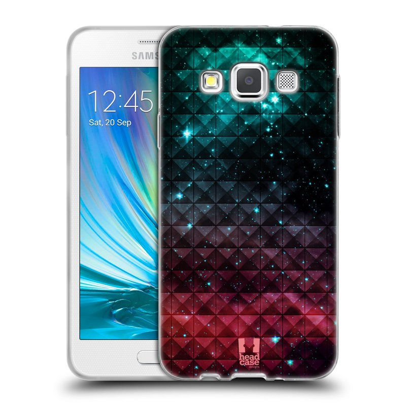 Silikonové pouzdro na mobil Samsung Galaxy A3 HEAD CASE OMBRE SPARKLE (Silikonový kryt či obal na mobilní telefon Samsung Galaxy A3 SM-A300)