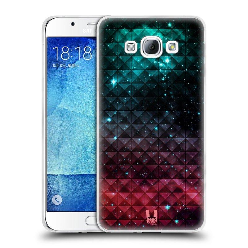Silikonové pouzdro na mobil Samsung Galaxy A8 HEAD CASE OMBRE SPARKLE (Silikonový kryt či obal na mobilní telefon Samsung Galaxy A8 SM-A800)