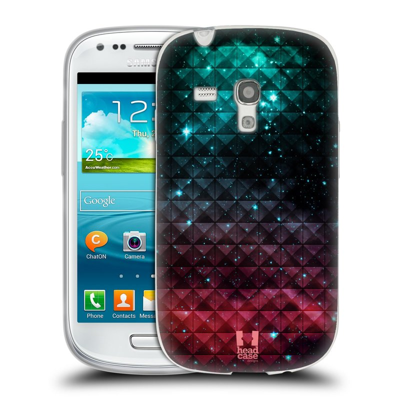 Silikonové pouzdro na mobil Samsung Galaxy S3 Mini VE HEAD CASE OMBRE SPARKLE (Silikonový kryt či obal na mobilní telefon Samsung Galaxy S3 Mini VE GT-i8200)