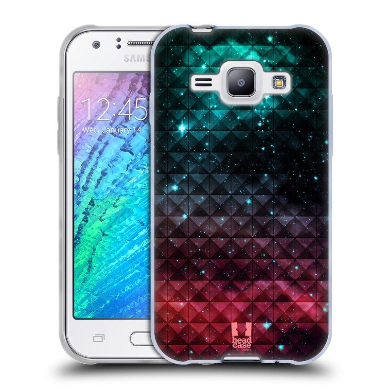 Silikonové pouzdro na mobil Samsung Galaxy J1 HEAD CASE OMBRE SPARKLE (Silikonový kryt či obal na mobilní telefon Samsung Galaxy J1 a J1 Duos)