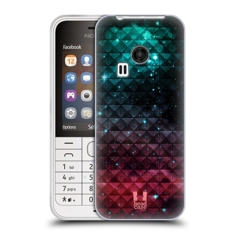 Silikonové pouzdro na mobil Nokia 220 HEAD CASE OMBRE SPARKLE (Silikonový kryt či obal na mobilní telefon Nokia 220 a 220 Dual SIM)