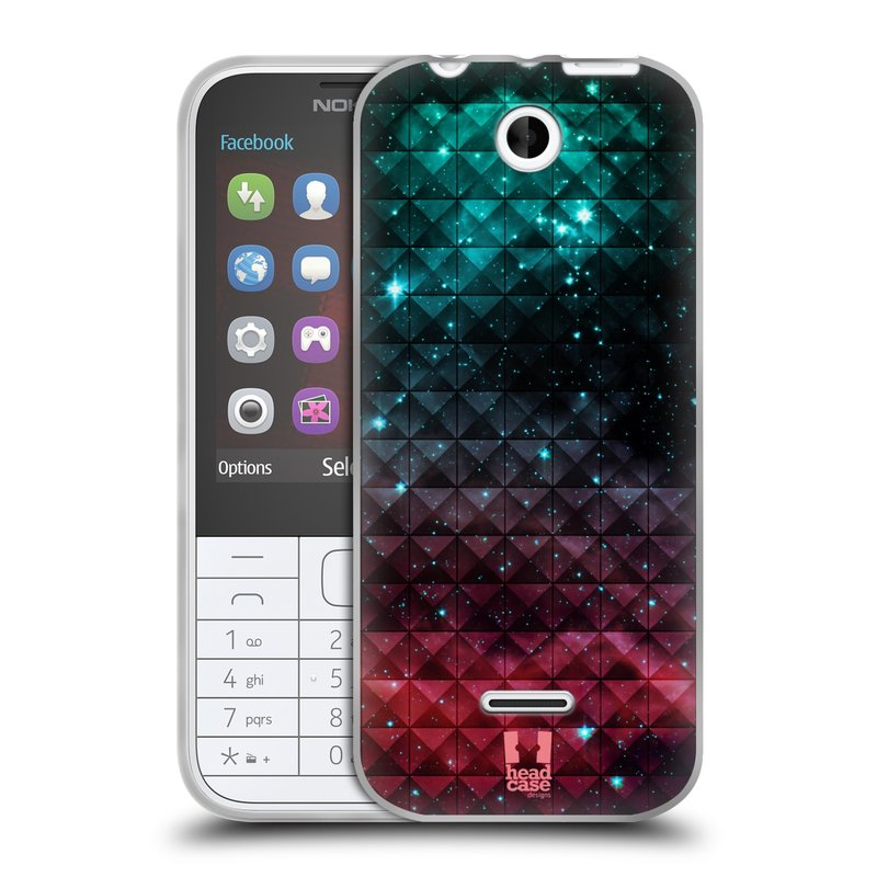 Silikonové pouzdro na mobil Nokia 225 HEAD CASE OMBRE SPARKLE (Silikonový kryt či obal na mobilní telefon Nokia 225)