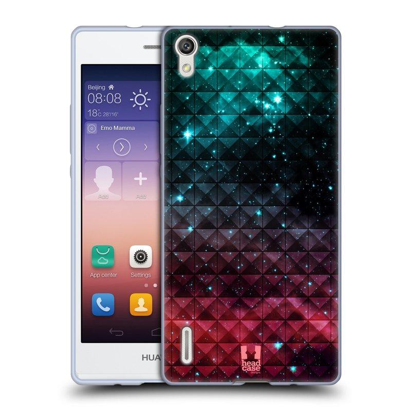 Silikonové pouzdro na mobil Huawei P7 HEAD CASE OMBRE SPARKLE (Silikonový kryt či obal na mobilní telefon Huawei Ascend P7)