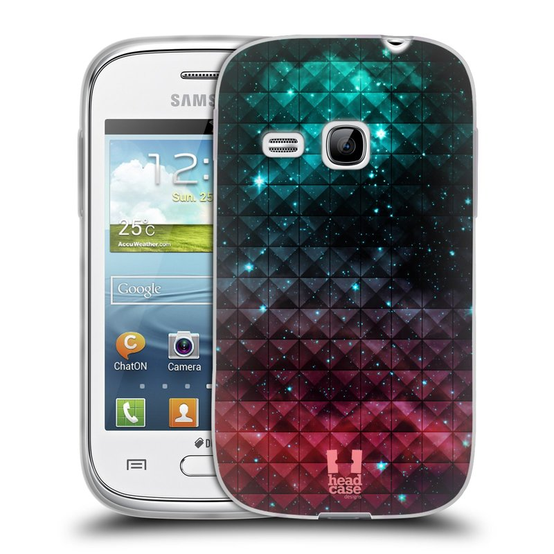 Silikonové pouzdro na mobil Samsung Galaxy Young HEAD CASE OMBRE SPARKLE (Silikonový kryt či obal na mobilní telefon Samsung Galaxy Young GT-S6310)