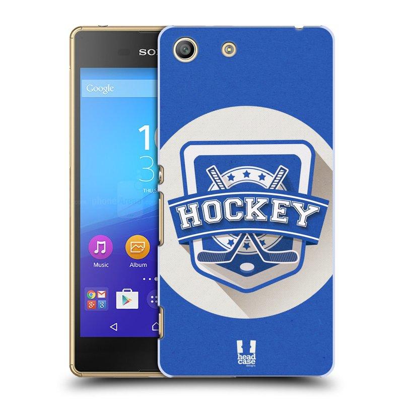 Plastové pouzdro na mobil Sony Xperia M5 HEAD CASE HOKEJ (Kryt či obal na mobilní telefon Sony Xperia M5 Aqua)