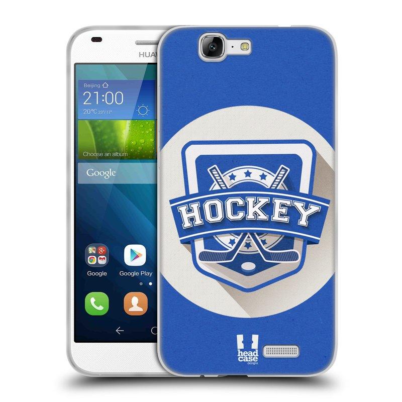 Silikonové pouzdro na mobil Huawei Ascend G7 HEAD CASE HOKEJ (Silikonový kryt či obal na mobilní telefon Huawei Ascend G7)