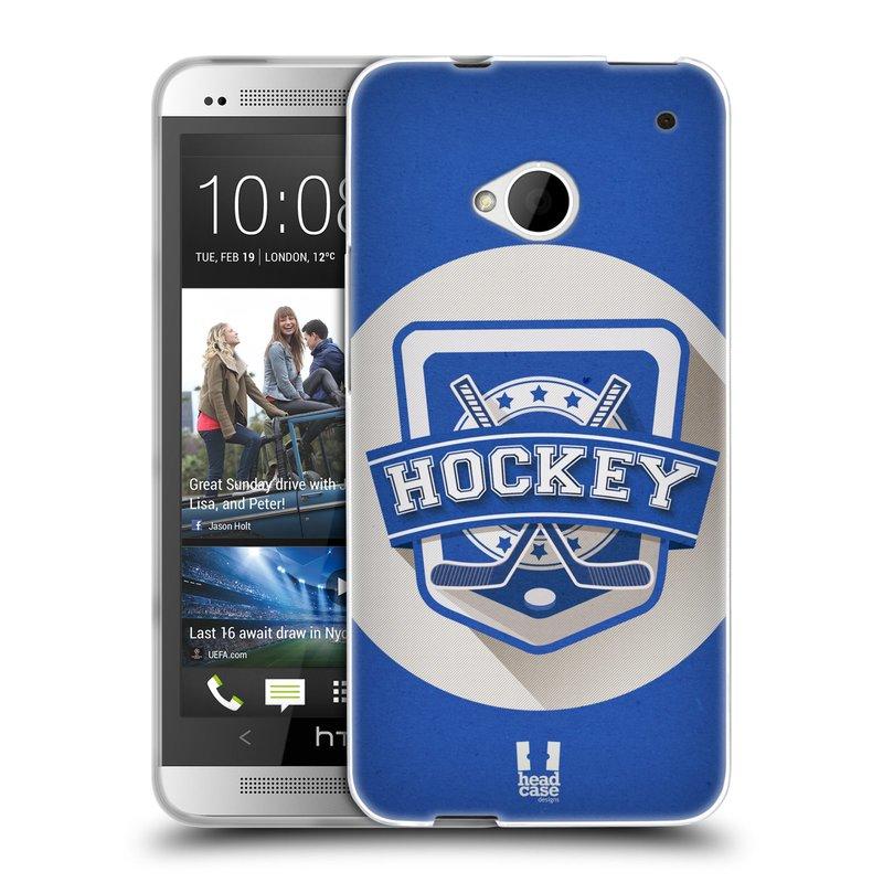Silikonové pouzdro na mobil HTC ONE M7 HEAD CASE HOKEJ (Silikonový kryt či obal na mobilní telefon HTC ONE M7)