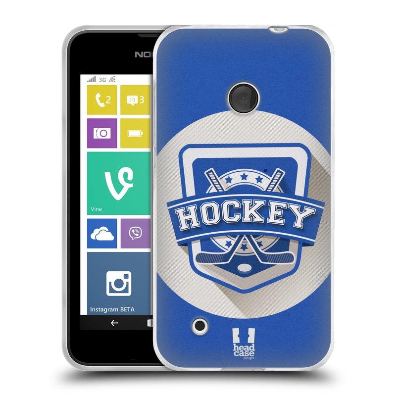 Silikonové pouzdro na mobil Nokia Lumia 530 HEAD CASE HOKEJ (Silikonový kryt či obal na mobilní telefon Nokia Lumia 530)