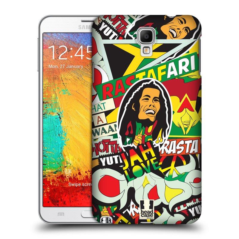 Plastové pouzdro na mobil Samsung Galaxy Note 3 Neo HEAD CASE RASTA (Kryt či obal na mobilní telefon Samsung Galaxy Note 3 Neo SM-N7505)