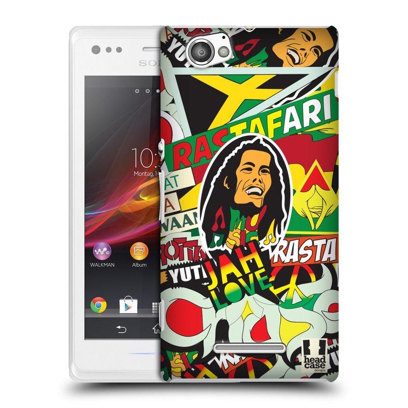 Plastové pouzdro na mobil Sony Xperia M C1905 HEAD CASE RASTA (Kryt či obal na mobilní telefon Sony Xperia M a M Dual)