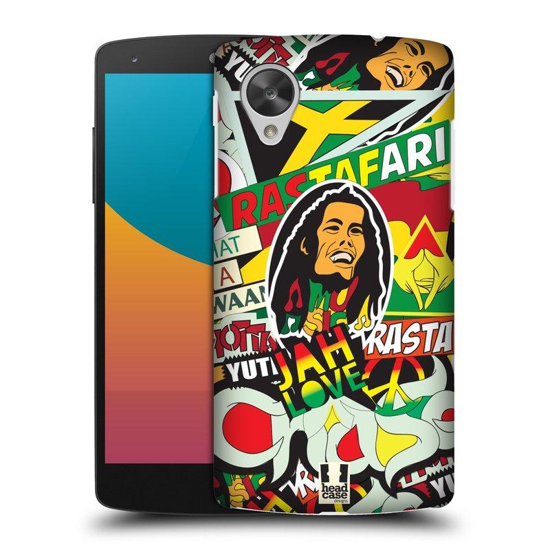 Plastové pouzdro na mobil LG Nexus 5 HEAD CASE RASTA (Kryt či obal na mobilní telefon LG Google Nexus 5 D821)