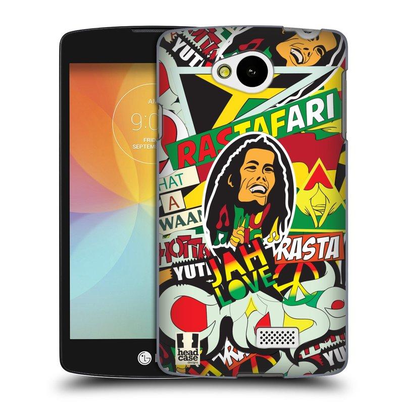 Plastové pouzdro na mobil LG F60 HEAD CASE RASTA (Kryt či obal na mobilní telefon LG F60 D390n)