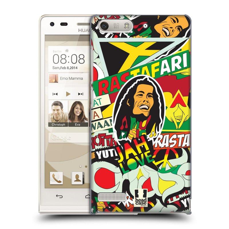 Plastové pouzdro na mobil Huawei Ascend G6 HEAD CASE RASTA (Kryt či obal na mobilní telefon Huawei Ascend G6 bez LTE)