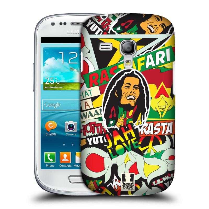 Plastové pouzdro na mobil Samsung Galaxy S III Mini HEAD CASE RASTA (Kryt či obal na mobilní telefon Samsung Galaxy S III Mini GT-i8190)