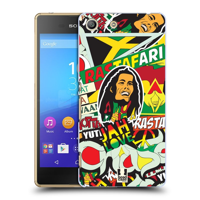 Plastové pouzdro na mobil Sony Xperia M5 HEAD CASE RASTA (Kryt či obal na mobilní telefon Sony Xperia M5 Aqua)