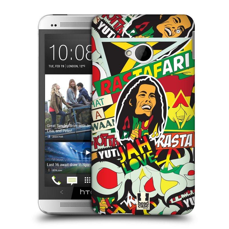 Plastové pouzdro na mobil HTC ONE M7 HEAD CASE RASTA (Kryt či obal na mobilní telefon HTC ONE M7)