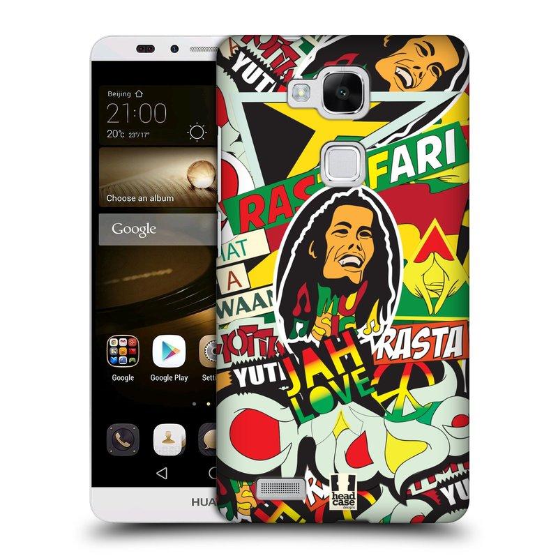 Plastové pouzdro na mobil Huawei Ascend Mate 7 HEAD CASE RASTA (Kryt či obal na mobilní telefon Huawei Ascend Mate7)