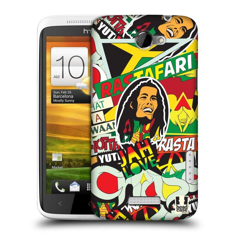 Plastové pouzdro na mobil HTC ONE X HEAD CASE RASTA (Kryt či obal na mobilní telefon HTC ONE X)