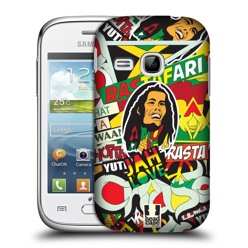 Plastové pouzdro na mobil Samsung Galaxy Young HEAD CASE RASTA (Kryt či obal na mobilní telefon Samsung Galaxy Young GT-S6310)