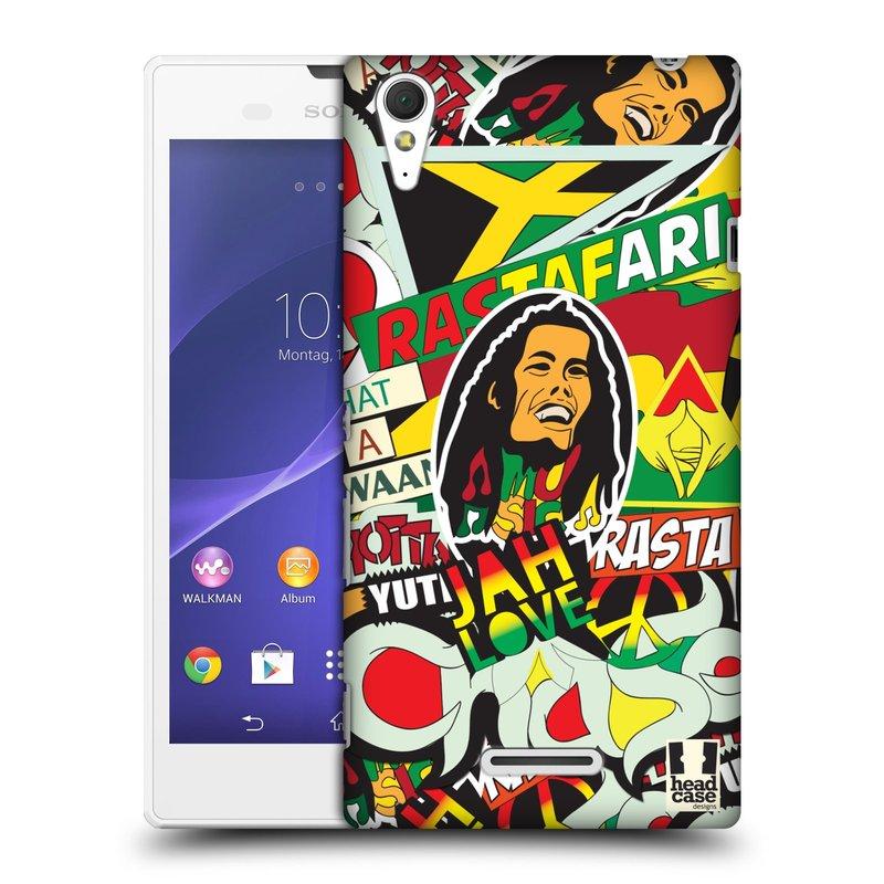 Plastové pouzdro na mobil Sony Xperia T3 D5103 HEAD CASE RASTA (Kryt či obal na mobilní telefon Sony Xperia T3 )