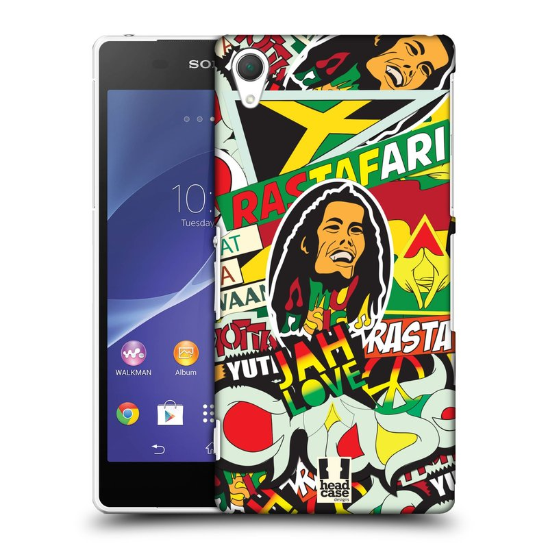 Plastové pouzdro na mobil Sony Xperia Z2 D6503 HEAD CASE RASTA (Kryt či obal na mobilní telefon Sony Xperia Z2 )
