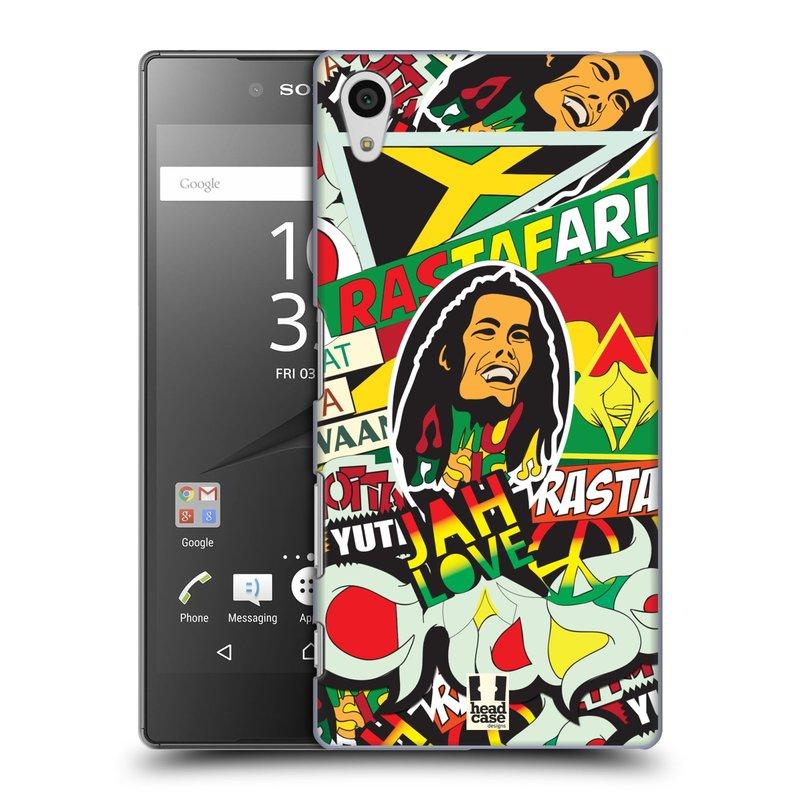 Plastové pouzdro na mobil Sony Xperia Z5 HEAD CASE RASTA (Kryt či obal na mobilní telefon Sony Xperia Z5 E6653)