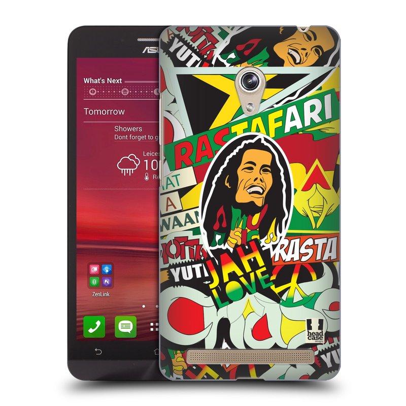 Plastové pouzdro na mobil Asus Zenfone 6 HEAD CASE RASTA (Kryt či obal na mobilní telefon Asus Zenfone 6 A600CG / A601CG)