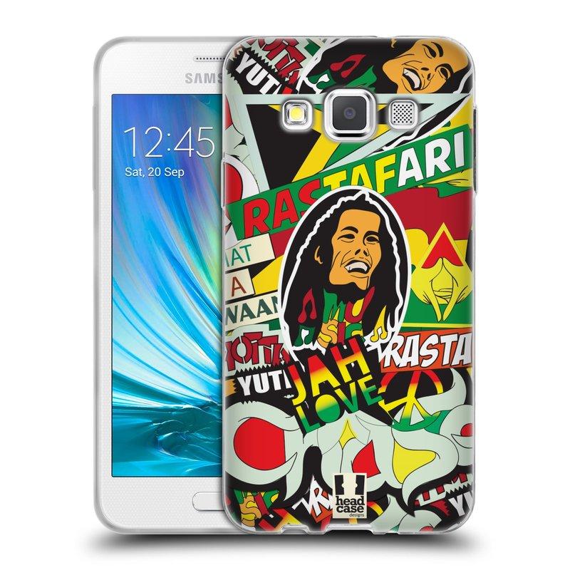 Silikonové pouzdro na mobil Samsung Galaxy A3 HEAD CASE RASTA (Silikonový kryt či obal na mobilní telefon Samsung Galaxy A3 SM-A300)
