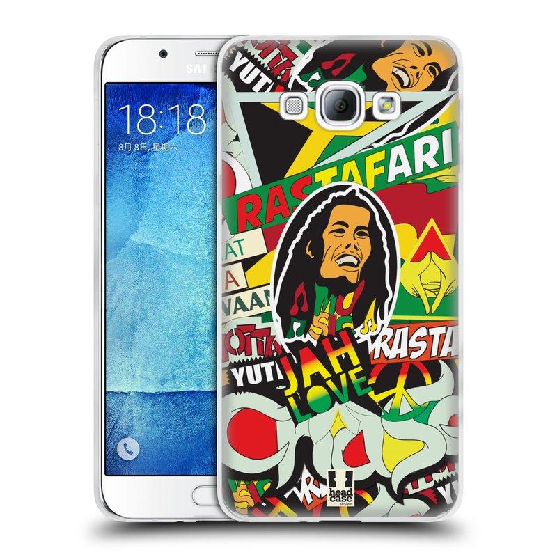 Silikonové pouzdro na mobil Samsung Galaxy A8 HEAD CASE RASTA (Silikonový kryt či obal na mobilní telefon Samsung Galaxy A8 SM-A800)