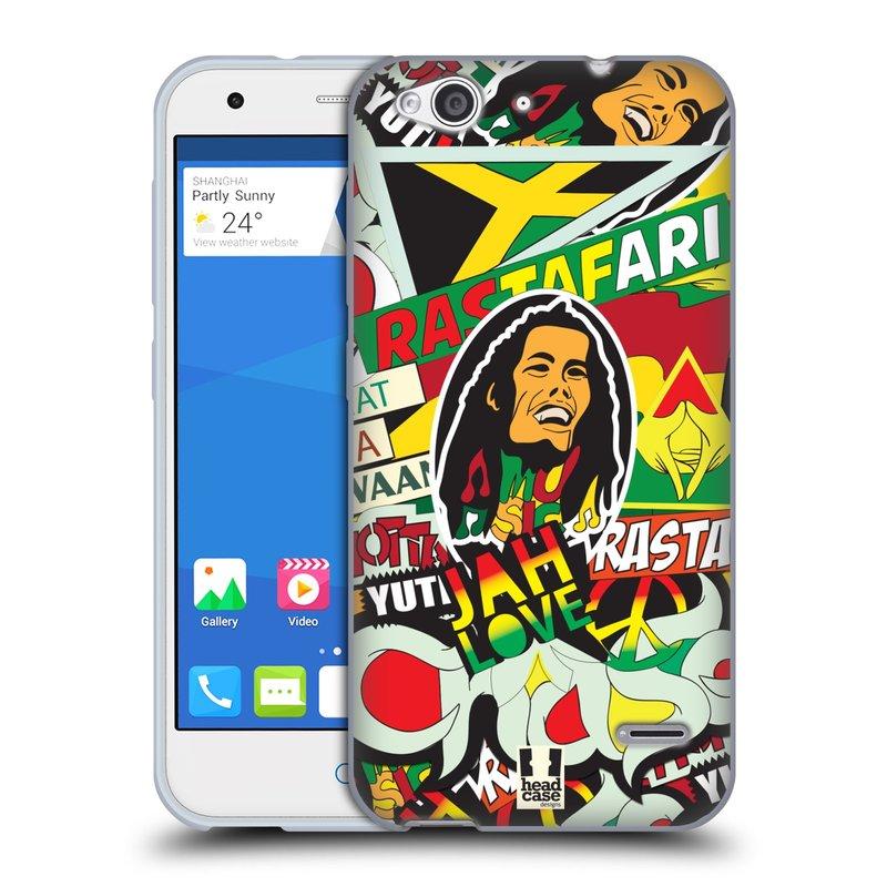 Silikonové pouzdro na mobil ZTE Blade S6 HEAD CASE RASTA (Silikonový kryt či obal na mobilní telefon ZTE Blade S6)