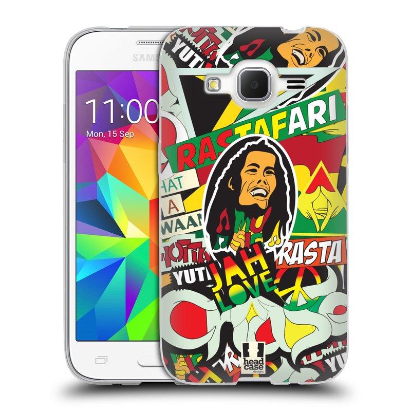 Silikonové pouzdro na mobil Samsung Galaxy Core Prime LTE HEAD CASE RASTA (Silikonový kryt či obal na mobilní telefon Samsung Galaxy Core Prime LTE SM-G360)