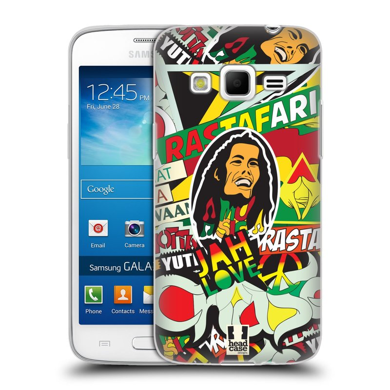 Silikonové pouzdro na mobil Samsung Galaxy Express 2 HEAD CASE RASTA (Silikonový kryt či obal na mobilní telefon Samsung Galaxy Express 2 SM-G3815)