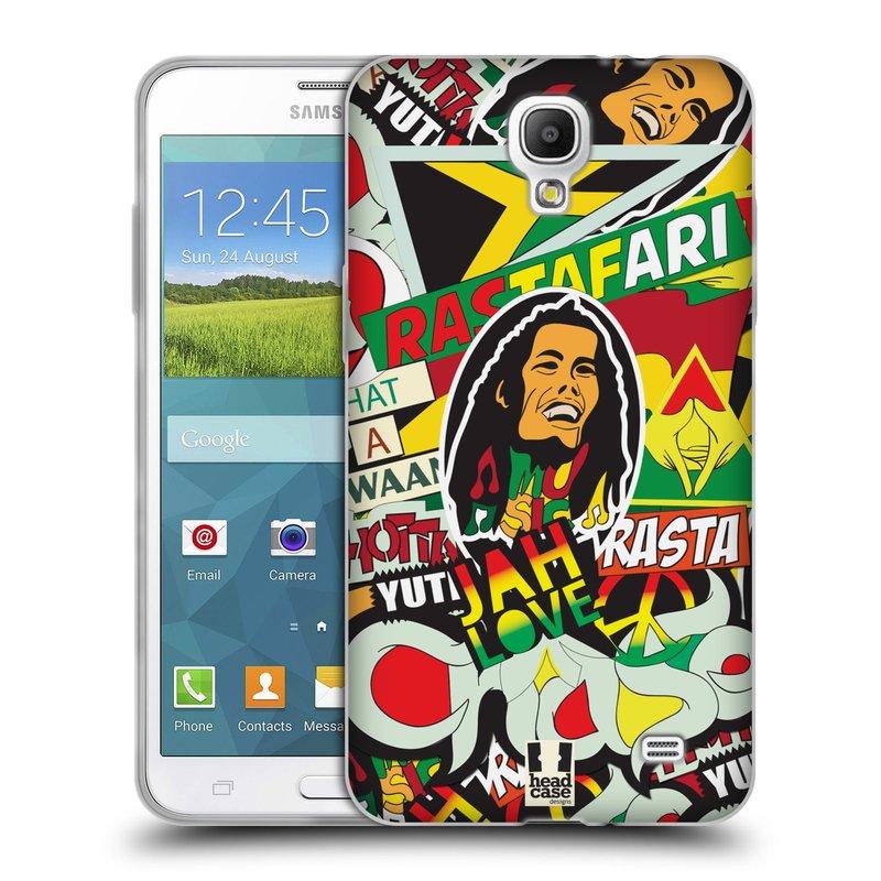 Silikonové pouzdro na mobil Samsung Galaxy Grand Mega 2 HEAD CASE RASTA (Silikonový kryt či obal na mobilní telefon Samsung Galaxy Grand Mega 2 SM-G750)