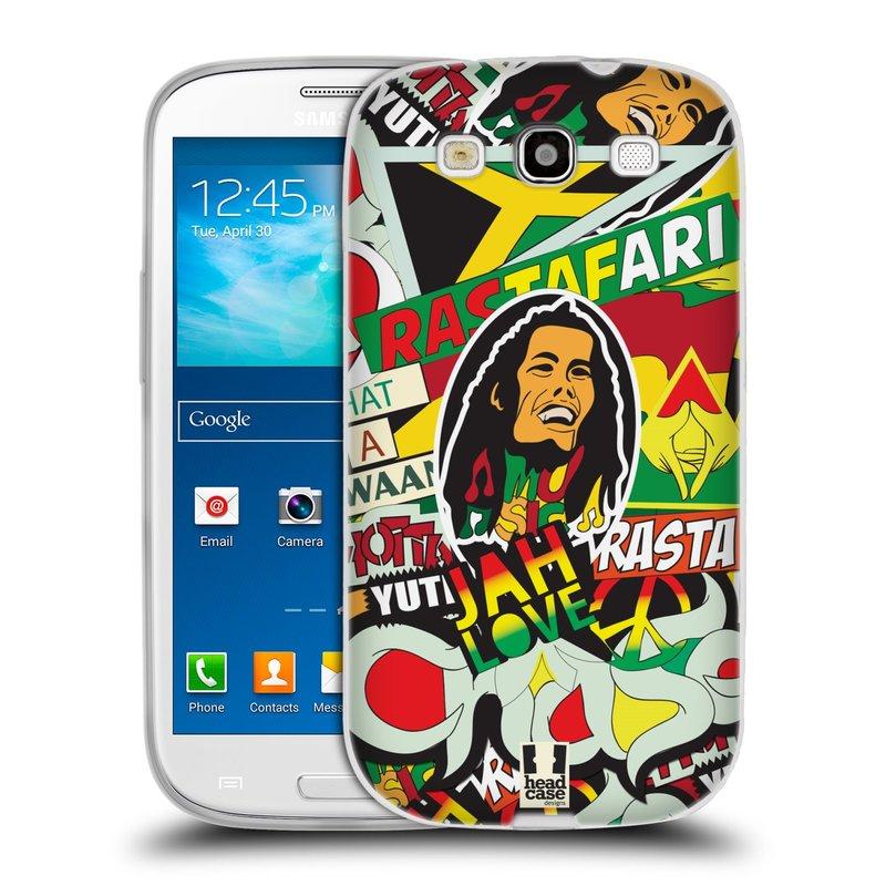Silikonové pouzdro na mobil Samsung Galaxy S3 Neo HEAD CASE RASTA (Silikonový kryt či obal na mobilní telefon Samsung Galaxy S3 Neo GT-i9301i)