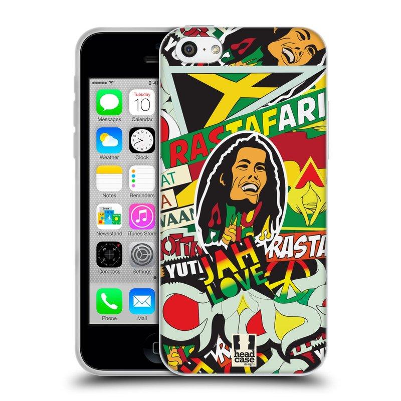 Silikonové pouzdro na mobil Apple iPhone 5C HEAD CASE RASTA (Silikonový kryt či obal na mobilní telefon Apple iPhone 5C)