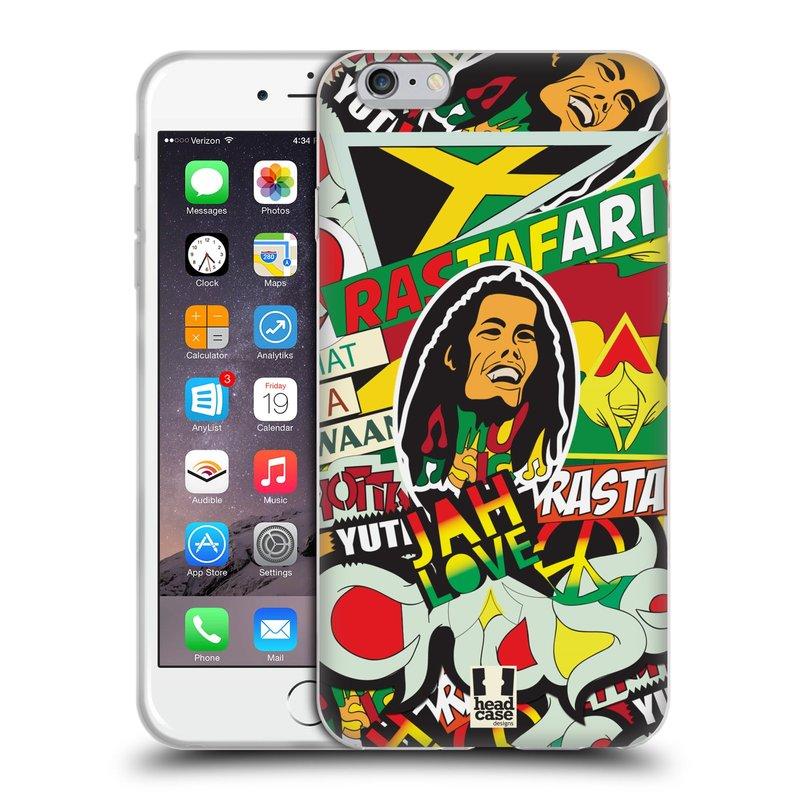 Silikonové pouzdro na mobil Apple iPhone 6 Plus a 6S Plus HEAD CASE RASTA (Silikonový kryt či obal na mobilní telefon Apple iPhone 6 Plus a 6S Plus)